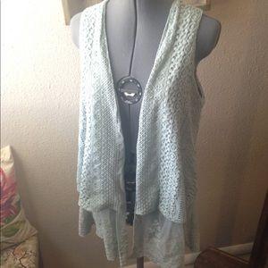 Spring Blue Lace Vest